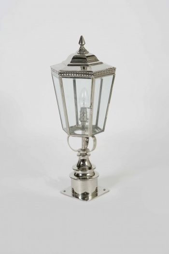 Nickel Chelsea Short Pillar Lamp